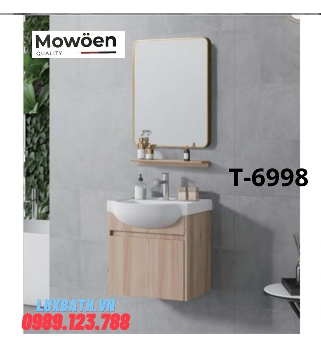 Bộ tủ chậu Lavabo cao cấp Mowoen D-6998