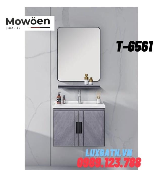 Bộ tủ chậu Lavabo cao cấp Mowoen T-6561