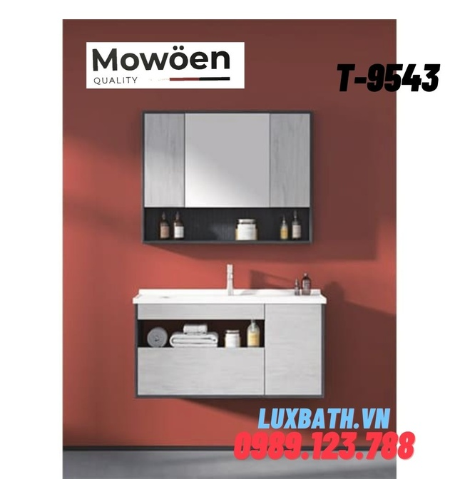 Bộ tủ chậu Lavabo cao cấp Mowoen T-9543