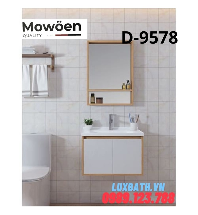 Bộ tủ chậu Lavabo cao cấp Mowoen T-9578