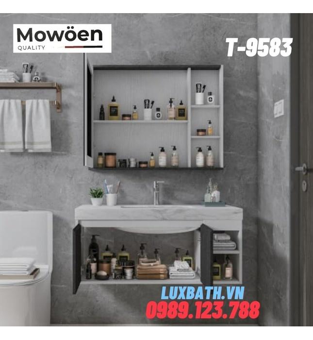 Bộ tủ chậu Lavabo cao cấp Mowoen T-9583