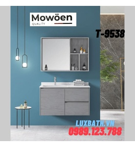 Bộ tủ chậu Lavabo cao cấp Mowoen T-9538