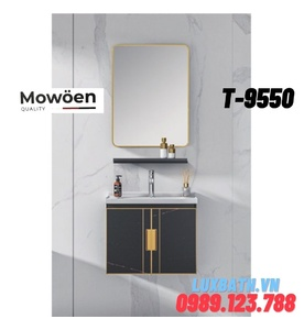 Bộ tủ chậu Lavabo cao cấp Mowoen T-9550