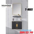 Bộ tủ chậu Lavabo cao cấp Mowoen T-9551