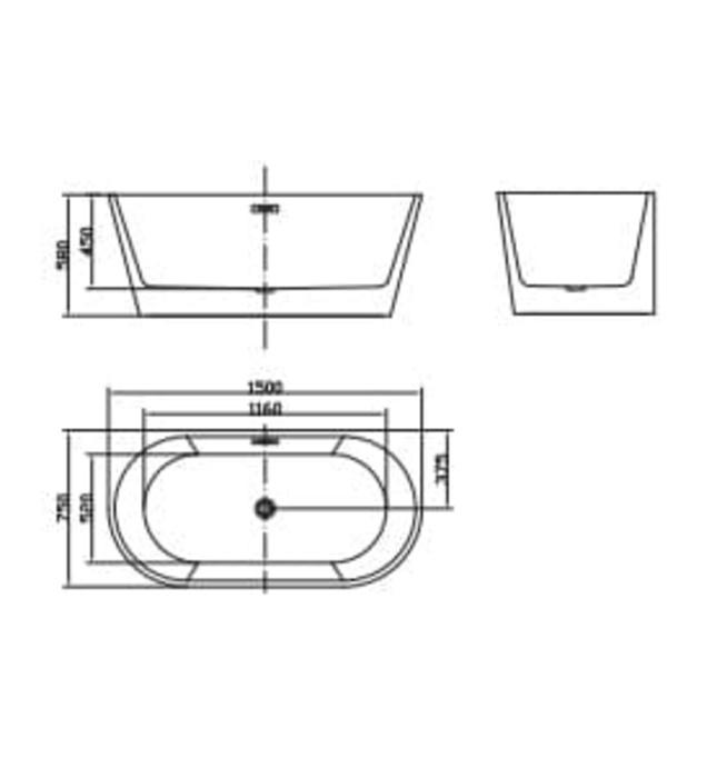 Bồn tắm lập thể đặt sàn Mowoen MW8113-150 1500cm