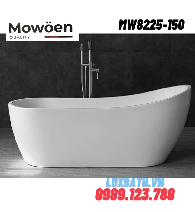 Bồn tắm đặt sàn độc lập hình cánh buồm Mowoen MW8225-150 1500cm