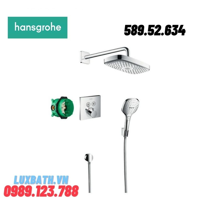 SEN TẮM ÂM TƯỜNG HANSGROHE RAINDANCE SELECT E 589.52.634