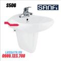 Chậu rửa mặt treo tường Sanfi S506