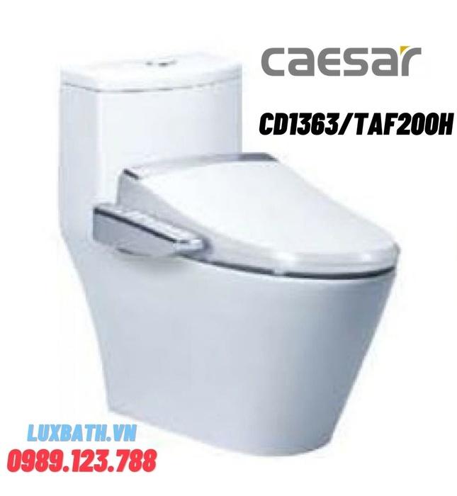 Bồn cầu 1 khối nắp điện tử Caesar CD1363/TAF200H