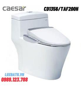 Bồn cầu 1 khối nắp điện tử Caesar CD1356/TAF200H