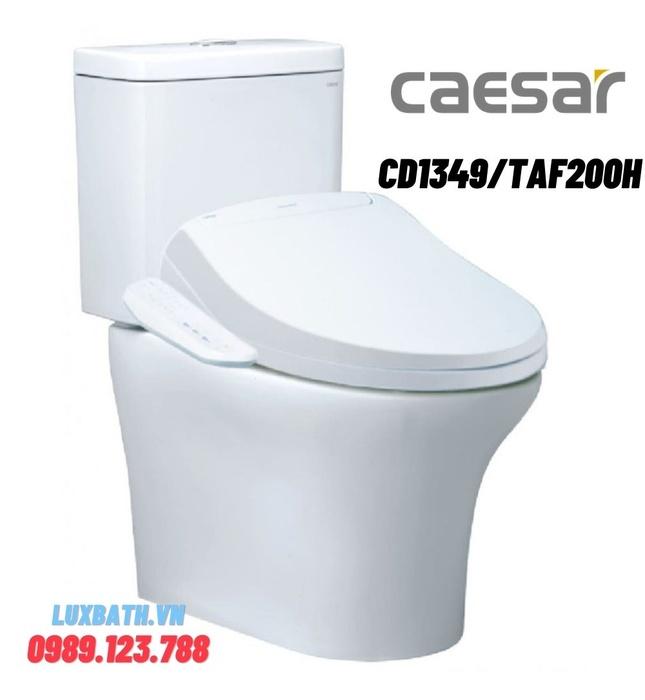 Bồn cầu 2 khối nắp điện tử Caesar CD1341/TAF400H