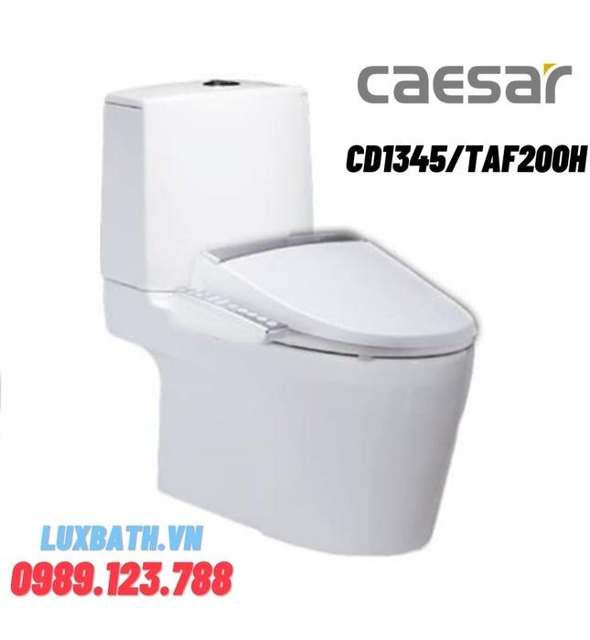 Bồn cầu 2 khối nắp điện tử Caesar CD1345/TAF200H