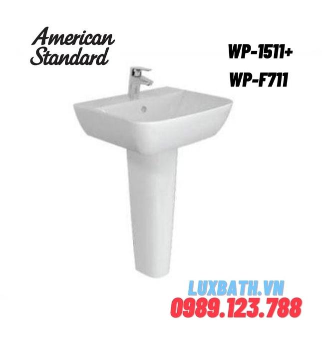 Chậu rửa treo tường chân dài American Standard WP-1511+ WP-F711