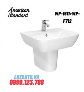 Chậu rửa treo tường chân lửng American Standard WP-1511+WP-F712