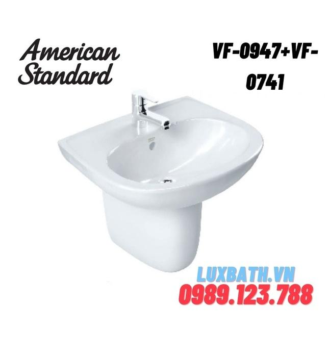 Chậu rửa mặt treo tường chân lửng AMERICAN STANDARD VF-0947+VF-0741