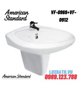 Chậu rửa mặt treo tường chân lửng AMERICAN STANDARD VF-0969+VF-0912