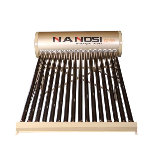 Máy nước nóng năng lượng mặt trời Nanosi 200l ống khía Gold N200K