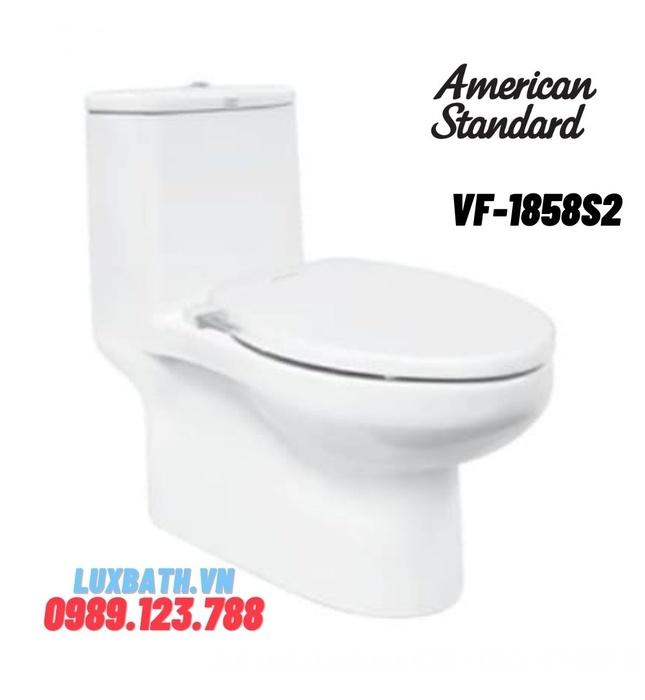 Bồn Cầu 1 khối American Standard VF-1858S2 Nắp Rửa Cơ