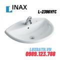 Chậu rửa mặt bàn đá dương vành 1 lỗ Inax L-2396VFC