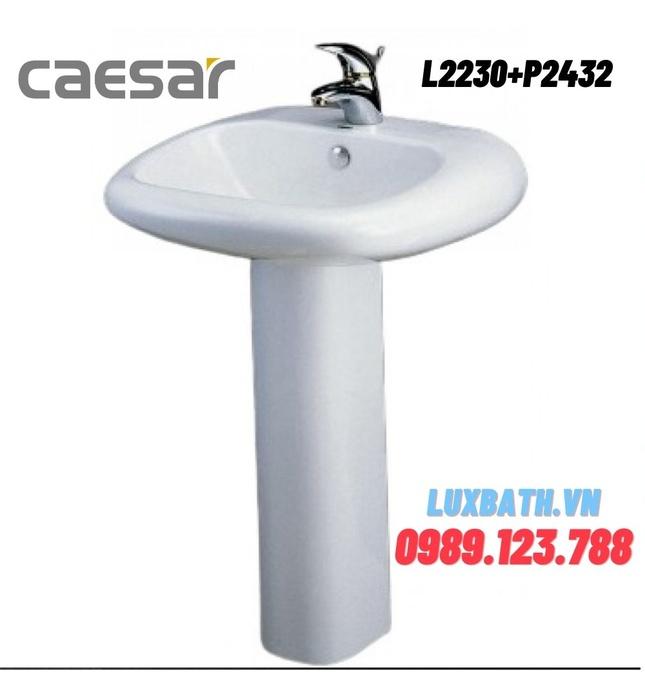 Chậu Rửa Lavabo Caesar Chân Dài L2230+P2432