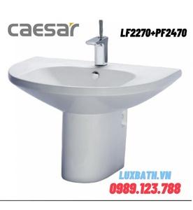 Chậu Lavabo Treo Tường Chân Lửng Caesar LF2270+PF2470
