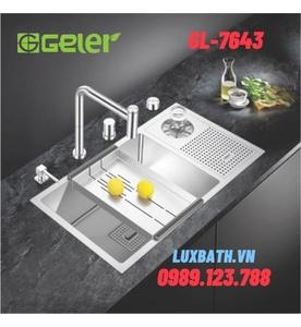 Chậu rửa bát 1 hố có máy rửa chén Geler GL-7643