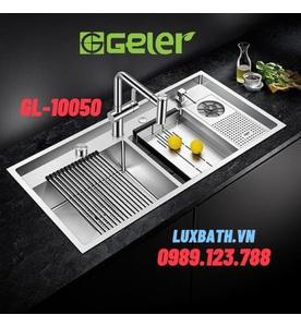 Chậu rửa bát 2 hố có máy rửa chén Geler GL-10050