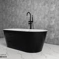 Bồn tắm lập thể trắng đen Mowoen MW8201-160WB 1600cm