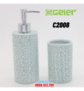 Bộ phụ kiện đá xà phòng 2 món Geler C2008