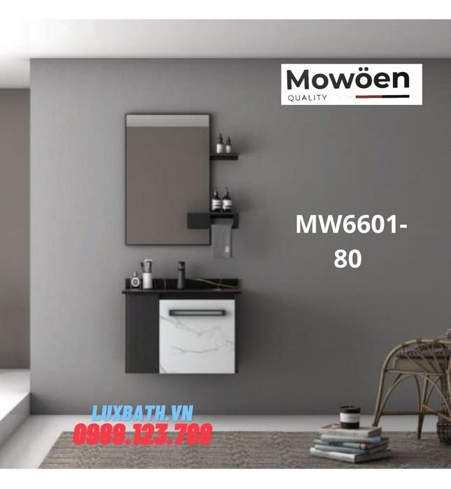 Bộ tủ chậu cao cấp đèn Led Mowoen MW6601-80