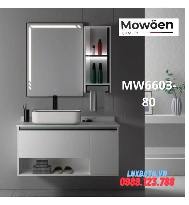 Bộ tủ chậu cao cấp đèn Led Mowoen MW6603-80