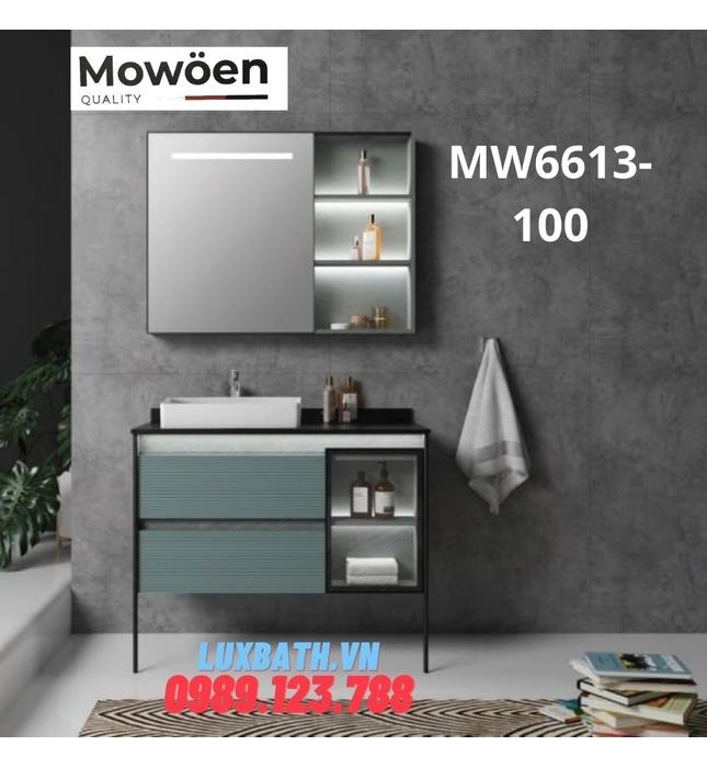 Bộ tủ chậu cao cấp đèn Led Mowoen MW6613-100