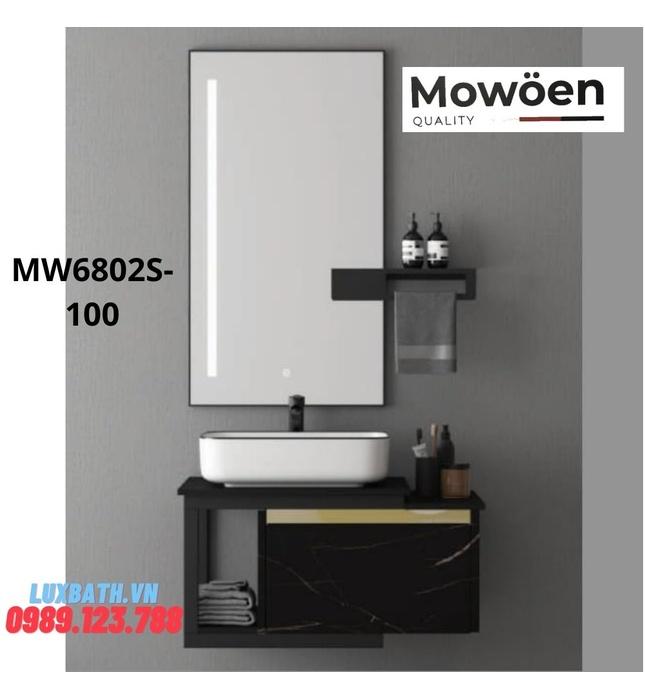 Bộ tủ chậu cao cấp đèn Led Mowoen MW6802S-100