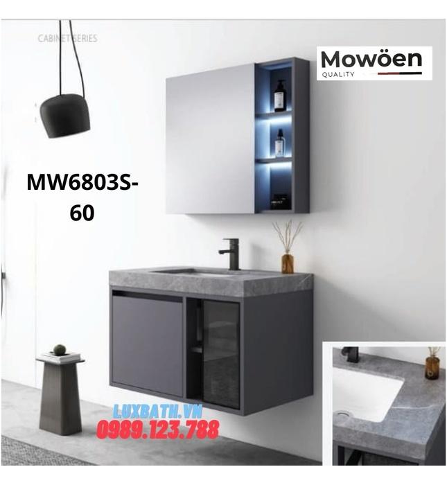 Bộ tủ chậu cao cấp đèn Led Mowoen MW6803S-60