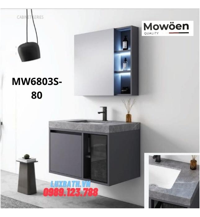 Bộ tủ chậu cao cấp đèn Led Mowoen MW6803S-80
