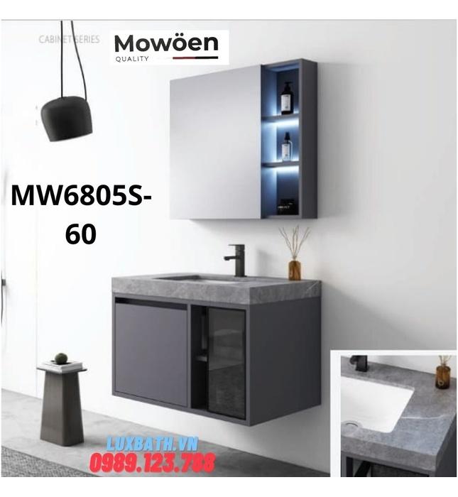 Bộ tủ chậu cao cấp đèn Led Mowoen MW6805S-60