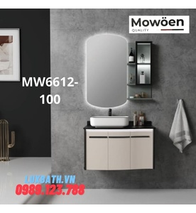 Bộ tủ chậu cao cấp đèn Led Mowoen MW6612-100