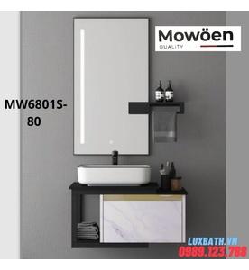 Bộ tủ chậu cao cấp đèn Led Mowoen MW6801S-80