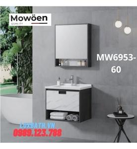 Bộ tủ chậu cao cấp đèn Led Mowoen MW6953-60
