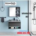 Bộ tủ chậu cao cấp đèn Led Mowoen MW6618-80