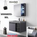 Bộ tủ chậu cao cấp đèn Led Mowoen MW6805S-80L