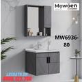Bộ tủ chậu cao cấp đèn Led Mowoen MW6936-80
