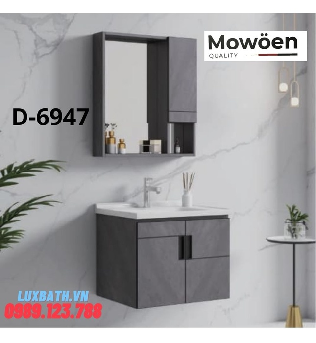 Bộ tủ chậu cao cấp Mowoen D-6947