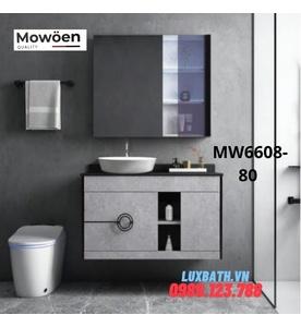 Bộ tủ chậu cao cấp đèn Led Mowoen MW6608-80