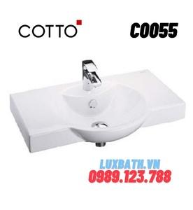 Chậu rửa lavabo COTTO C0055 (treo tường)