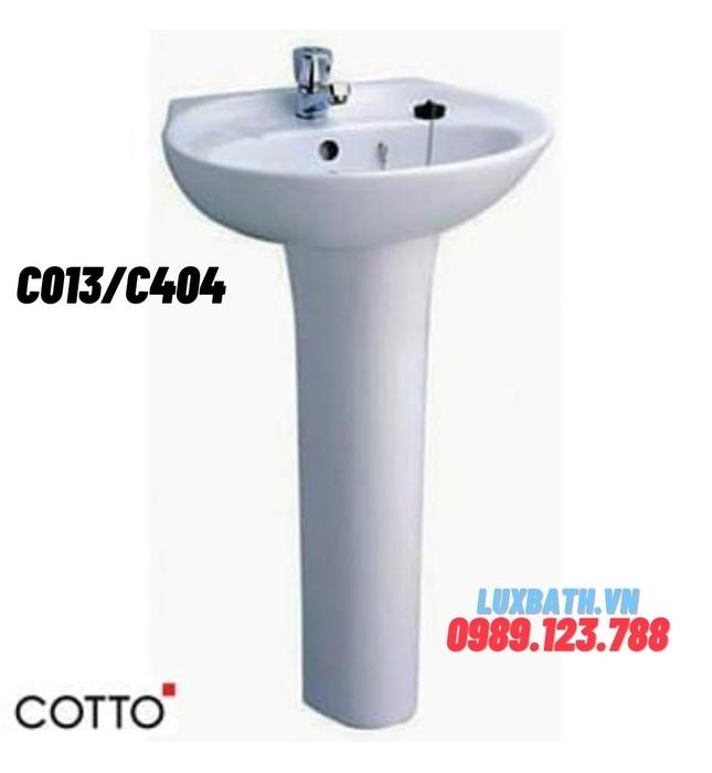 Chậu rửa Lavabo COTTO C013/C404 chân dài