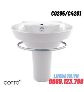 Chậu rửa Lavabo COTTO C0285/C4201 chân ngắn