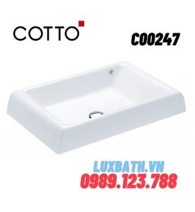Chậu rửa mặt COTTO C00247 đặt bàn