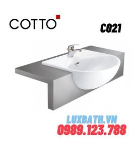 Chậu rửa mặt COTTO C021 bán âm bàn