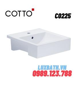 Chậu rửa mặt COTTO C0225 bán âm bàn